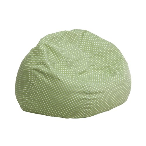 Flash Furniture Small Green Dot Kids Bean Bag Chair DG-BEAN-SMALL-DOT-GRN-GG