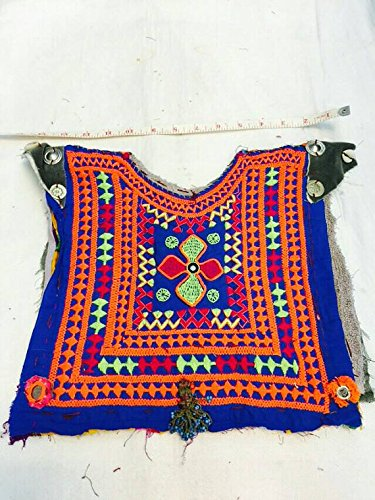 [Afghan Costume Belly Dance Dress Top Choli Embroidery Banjara Festival Ethnic Tribal Nomadic Hippie] (Banjara Dance Costumes)