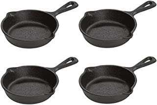 product image for Lodge Pre-Seasoned 3.5-Inch Cast Iron Skillet Set for Side Dishes or Desserts (Set of 4)