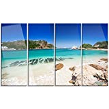Design Art PT12898-48-28-4P Beautiful Knysna Beach South Africa - Large Seashore Canvas Print,,48x28 - 4 Panels
