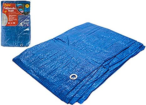 Eyelets 1.2m X 1.8m 80 GSM SALE PRICE Blue Tarpaulin Cover Ground Sheet