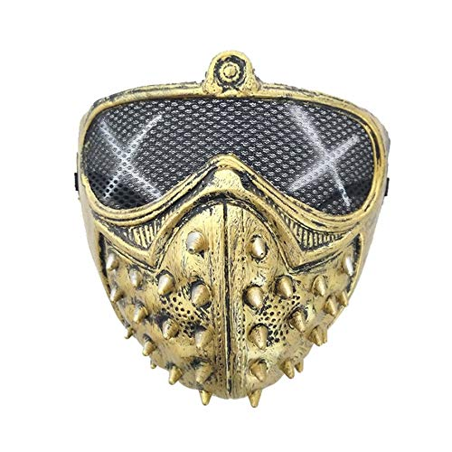 Smartlove1P Halloween Punk Devil Cosplay Anime Stage Mask Ghost Steps Street Masquerade Death Masks Watch Dogs Rivet Party Face Masks]()