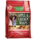 VitaLife Jerky Dog Treats - Natural, Grain Free, Apple & Chicken, 454 g