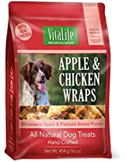 VitaLife Jerky Dog Treats - Natural, Grain Free, Apple & Chicken, 454 g
