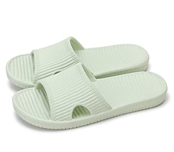 0e0f6301e Slip On Slippers Non-slip Shower Sandals House Mule Soft Foams Sole Pool  Shoes Bathroom