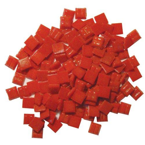 (Jennifer's Mosaics 3/8-Inch Venetian Style Glass Mosaic Tile, Burnt Red, 8-Ounce)