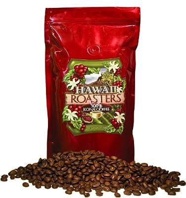 Hawaii Roasters 100% Kona Coffee, Medium Roast, Whole Bean, 14-Ounce Bag by Hawaii Roasters