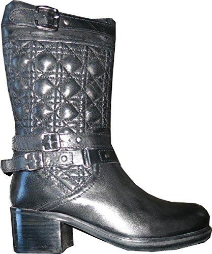 XYXYX Stiefel - Botas de cuero para mujer negro - negro