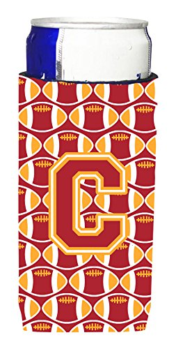 文字C Football Cardinal andゴールドUltra Beverage Insulators forスリム缶cj1070-cmuk   B012Y07OWA