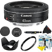 Canon EF 40mm f/2.8 STM Lens + Pixi-Basic Accessory Lens Kit
