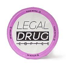 Legal Drug 2X The Caffeine Blend Kcups, Caffeine Junkie, 24 Count
