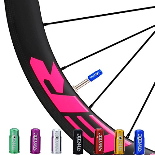 Bike Tire Valve Caps Multi Color Anodized Machined Aluminum Alloy