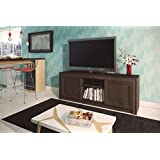 Ditalia Wooden TV Cabinet With Two Doors for  60 inch TV - Brown (H 63 cm x W 168 cm x D 46 cm)