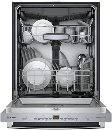 Bosch SHXM65Z55N 500 Series 24 Inch Built In Bar Handle Dishwasher with 5 Wash Cycles, 16 Place Settings, Energy Star Certified, Flexible 3rd Rack, AutoAir (Bar handle)