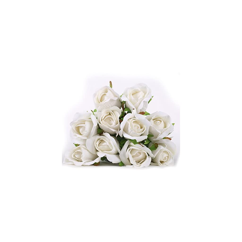 Luyue-Artificial-Silk-Rose-Flower-Bouquet-Wedding-Party-Home-Decor-Pack-of-10