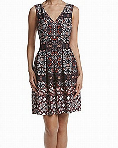 Dress Vince Pleated (Vince Camuto Women's Floral Pleated A-Line Dress)