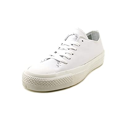 a2283796da8a Converse New Unisex White Leather Lace Fastening Pumps - White - UK Size 5.5