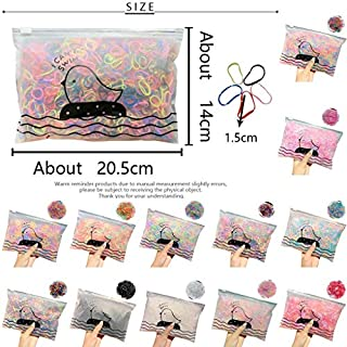 MORECON 1000 / Pack Girl Colorful Fashion Disposable Rubber Band Elastic Hair Band