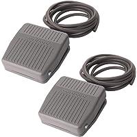 Gebildet 2 delar pedalomkopplare, momentär fotpedalomkopplare AC 250 V 10 A SPDT NO NC fotmanövrerad pedalstyrenhet för…
