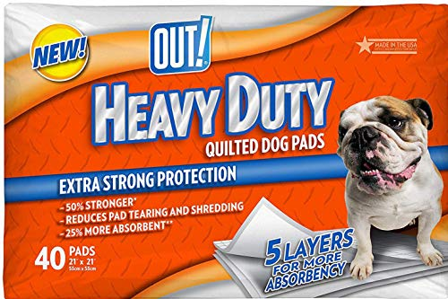 OUT! Training Pads for Dogs, Heavy Duty Quilted, 40 Count, 4 Pack For Sale