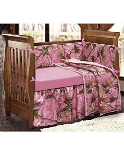 - HiEnd Accents Realtree Oak Camo Crib Set, Pink