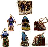 Jim Shore Holy Family Set of 3 Hanging Ornaments