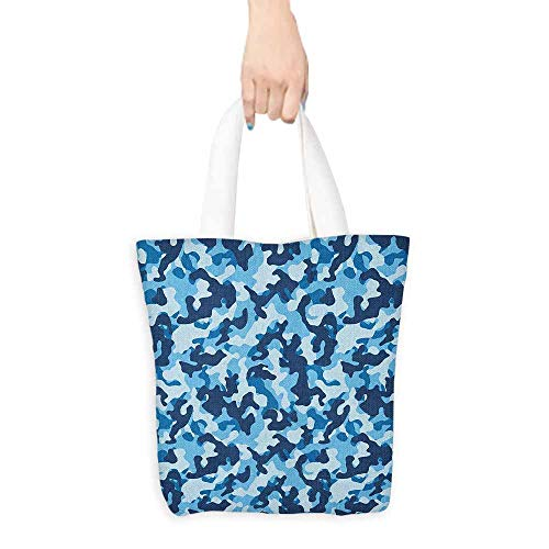 Tote bag,Camouflage Costume Pattern with Vibrant Color Palette Abstract Composition Concealment,Organic Cotton Washable & Eco-friendly Bags,16.5