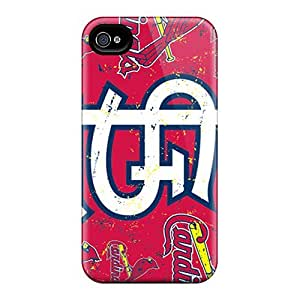 Tpu Case Cover Compatible For Iphone 4/4s/ Hot Case/ St. Louis Cardinals