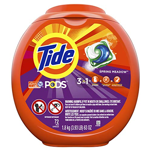Tide PODS Spring Meadow Scent HE Turbo Laundry Detergent Pacs, 72 count by Tide (Image #9)