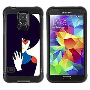 LASTONE PHONE CASE / Suave Silicona Caso Carcasa de Caucho Funda para Samsung Galaxy S5 SM-G900 / Dark Sad Wife Unhappy Art
