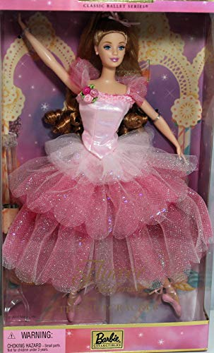 Barbie Year 2000 Collector Edition Classic Ballet Series 12 Inch Doll - Barbie as Flower Ballerina from The Nutcracker with Pink Ballet Costume, Ballet Slippers, Doll Stand and Certificate of Authenticity