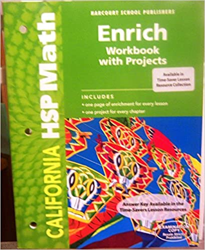 Harcourt Math Enrich Workbook With Projects Grade 2 Harcourt