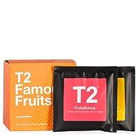 T2 Tea Sips Famous Fruits Assorted Tea Sampler Gift Box, Pack of 10 Loose Leaf Iced Tea Sachets