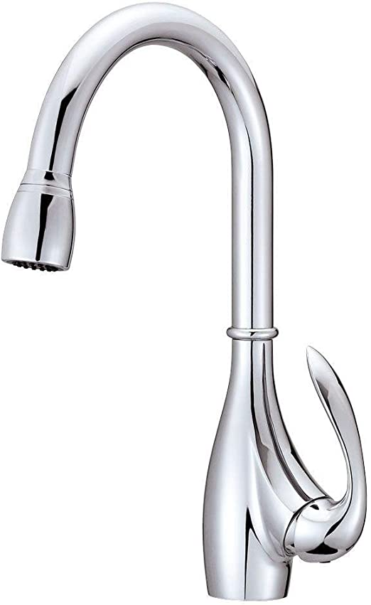 Danze D454746 Bellefleur Single Handle Two Function Pull-Down Kitchen  Faucet, Chrome