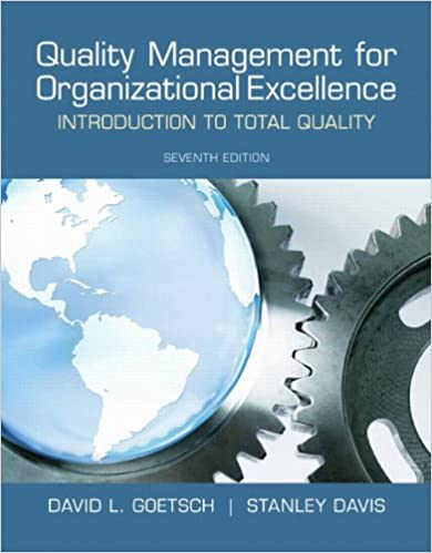 Quality management for organizational excellence introduction to quality management for organizational excellence introduction to total quality 7th edition david l goetsch stanley davis 9780132558983 amazon fandeluxe Choice Image