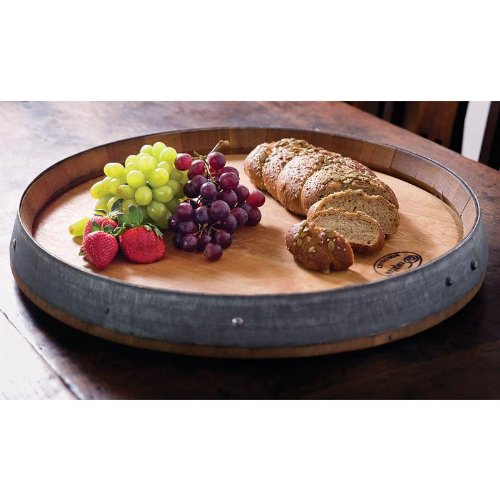 Twine Rustic Farmhouse: Lazy Susan Tray, Brown by Twine