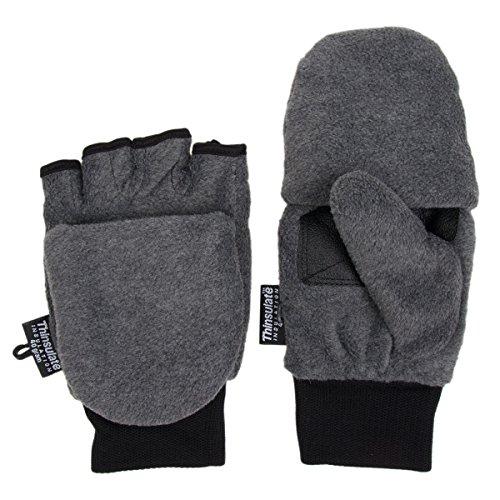 シンサレート3 MフリースPop Top Convertible指なし手袋ミトンレディースキッズ
