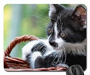 Cat in basket Mouse Pad, Mousepad (Cats Mouse Pad)