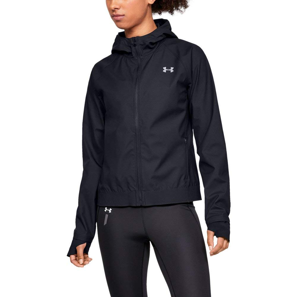 Under Armour Women's Perpetual GORE-TEX WINDSTOPPER Jacket, Black (001)/Reflective, X-Small