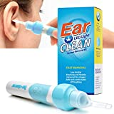 Ear Wax Removal Kit, Ear Cleaner, Electric Earwax Removal Tools for Adults and Kids Vacuum Ear Cleaners Soft Silicone Automatic Earwax Removal Kits with LED Light Powerful Suction for Easy Cleaning
