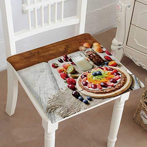 (Mikihome Premium Chair Cushion Greek Yogurt Granola Fruit Breakfast Pizza ton Selective Focus Comfort Memory PadCushions - Assorted Colors 28