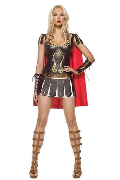 Aimerfeel señoras atractivas del guerrero griego romanos tamaño del vestido de gladiador de lujo (38-40): Amazon.es: Ropa y accesorios