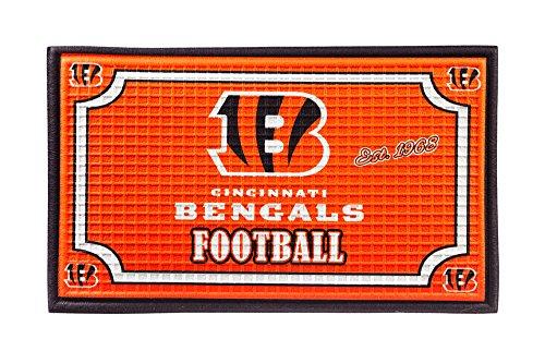 Team Sports America 41EM3806 Cincinnati Bengals Embossed Door Mat (Rug Mat Bengals)