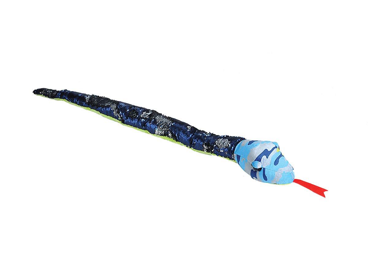 Stuffed Animal Gifts for Kids Plush Toy Sensory Toys Wild Republic Sequin Snake Plush Blue Camo Snake 36 Blue Camo Snake 36 23399