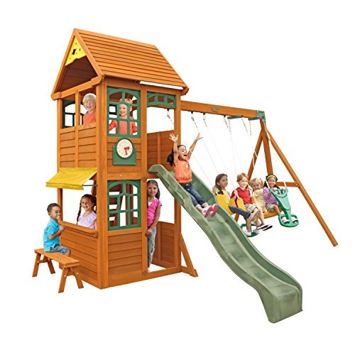 - KidKraft Brooksville Cedar Wood Swing Set / Playset F24915