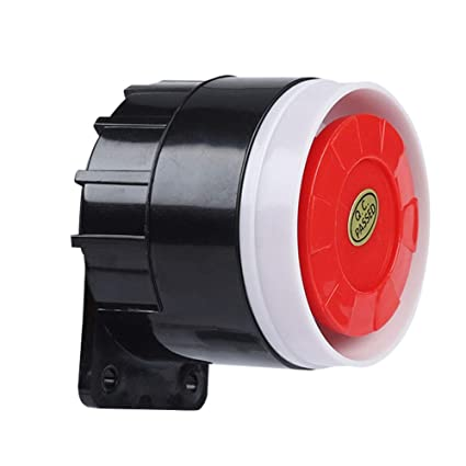 Amazon.com: DC 12V Mini Red Wired Horn Siren Sound Alarm ...