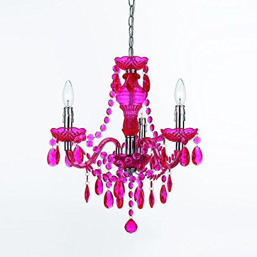 Hot Pink Chandelier (AF Lighting 8502-3H Fulton Mini Chandelier - Hot Pink)