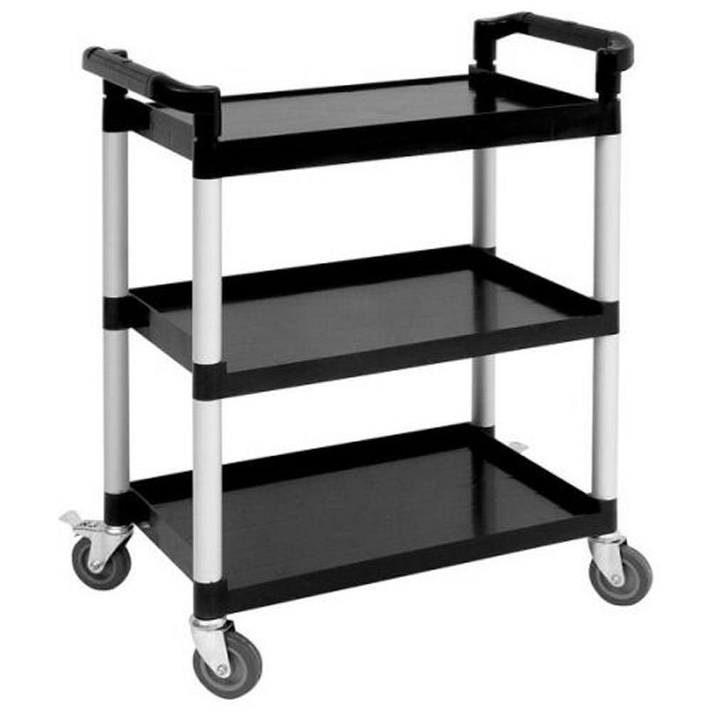 3 Tier Plastic Catering Trolley / Serving Trolley / Clearing Trolley 790mm x 420mm x 960mm high Reward Trolleys 7873