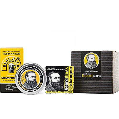 Beard Care Kit Gift Set with Beard Gloss, Beard Shampoo and Beer Shampoo for Hair | 100% Natural & Chemical Free | Kunzea & Essential Oils for Healthy Beard | Handmade in Tasmania Australia