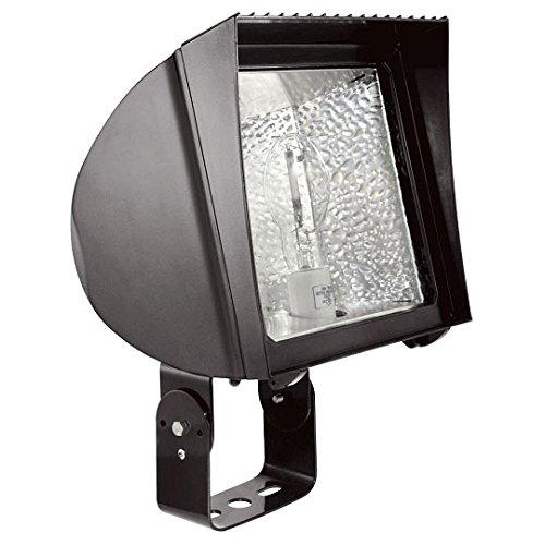 RAB Lighting FXH150SFQT Metal Halide Flex Floodlight with Slipfitter Mount, ED17 Type, Aluminum, 150W Power, 12500 Lumens, 277V, Bronze Color